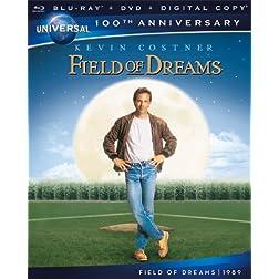 Field of Dreams [Blu-ray + DVD + Digital Copy] (Universal's 100th Anniversary)