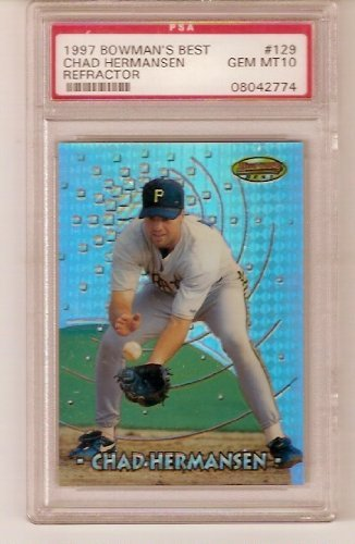 Chad Hermansen 1997 Bowman Best Baseball Rookie Card (Professionally Graded a PSA 10 (Gem-Mint) (Pittsburgh