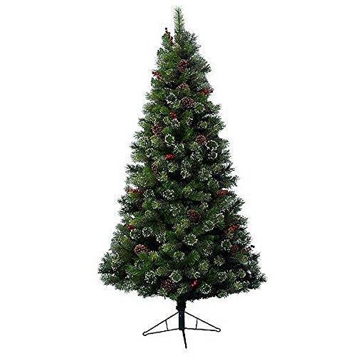 Kaemingk 689160 Snowy Glenmore Spruce, Fichte gefrostet, Soft - und Hartnadel Mix, innen, Höhe 150 cm thumbnail
