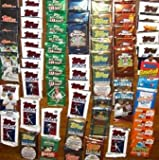 50 Original Unopened Packs of New & Vintage Baseball Cards (1986-2010) PLUS Pack 100 Soft Sleeves