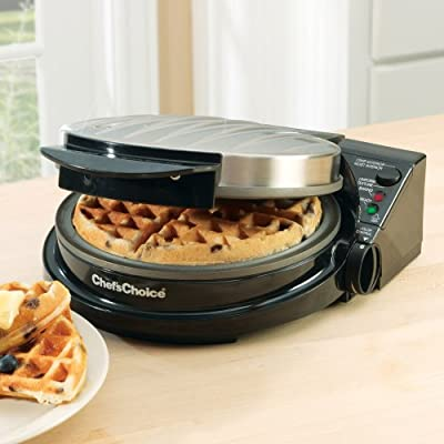 Chefs Choice Model 830BSE International Waffle Pro Classic Belgian Waffle Design from Edgecraft Corporation