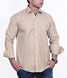 First Row Brown W-G Casual Shirt_40