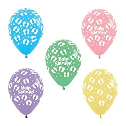 Balloon Junction BABY SHOWER Printed MultiColor Balloons - Pack of 25 pcs