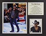 """Tim McGraw 11"""" X 14"""" Unframed Matted Photo Collage By Legends Never Die, Inc."""
