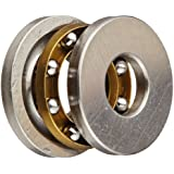 Dynaroll Thrust Ball Bearing, Grooved, 52100 Chrome Steel, Metric