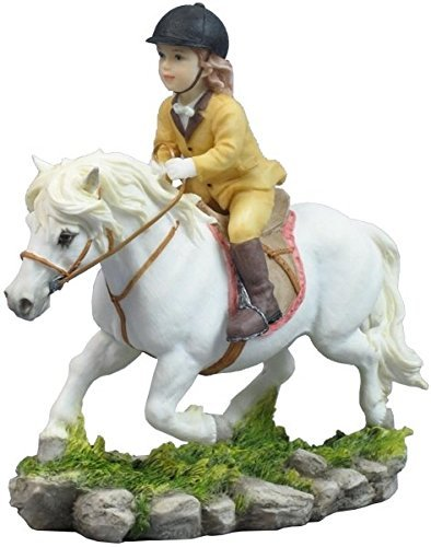 65-inch-little-girl-riding-trotting-pony-statue-figurine-multicolor