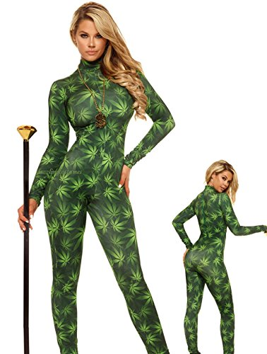 Way Up Green Pot Leaf Costume