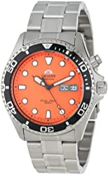 Orient Men's EM6500AM Ray Automatic Stainless Steel Orange Dial Watch