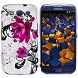 mumbi Hybrid H�lle Samsung Galaxy S3 Schutzh�lle (harte R�ckseite) Blumen pink