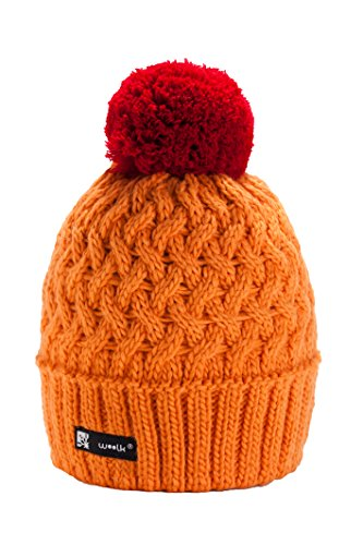 unisex-women-girls-winter-beanie-hat-wool-knitted-cookie-with-pom-pom-cap-ski-snowboard-hats-orange