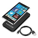 kwmobile Caricabatterie senza fili Qi per Nokia Lumia 930 in Nero e altri dispositivi con sistema Qi
