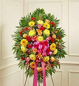 1-800-Flowers - Deepest Sympathies Bright Standing Spray - Medium By 1800Flowers