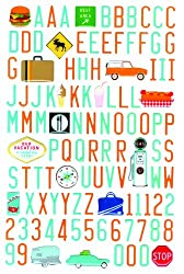 Martha Stewart Crafts Stickers, Travel Icon Alphabet