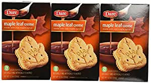 Dare Foods Maple Leaf Creme Cookies 3 /12.3oz Boxes
