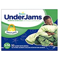Pampers Underjams Bedtime Underwear Boys,Size Small/Medium Diapers, 50 Count
