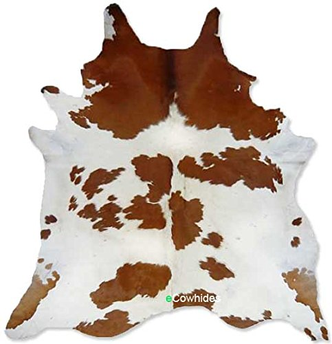 Brown And White Cowhide Rug On SALE Cow Hide Skin Leather