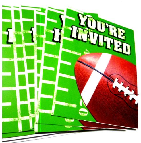 Football Birthday Party Invitation Cards