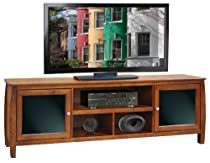 "Big Sale Legends Furniture Curve 76"" Spiced Rum Brown Entertainment TV Console"
