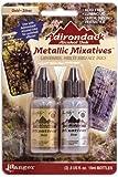 Ranger Adirondack Alcohol Ink Metallic Mixatives 1/2-Ounce 2/Pkg, Gold and Silver