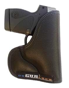 Taurus PT732 .32 Caliber Custom Fit Leather Trimmed orGUNizer Poly Pocket Holster For Concealed Carry Comfort by Garrison Grip (B)