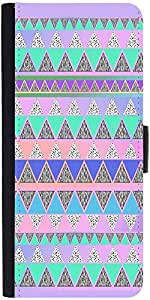 Snoogg Pyramid Aztec Graphic Snap On Hard Back Leather + Pc Flip Cover Sony X...