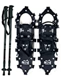 "Search : Alps All Terrian Snowshoes 25"" + pair antishock adjustable snowshoeing pole (black) + free carrying tote bag"
