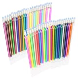 SunAngel 48 Color Gel Ink Pen Refills, Colors Included: Pastel, Neon, Metallic and Glitter, 0.8mm Fine Point, Pack of 48