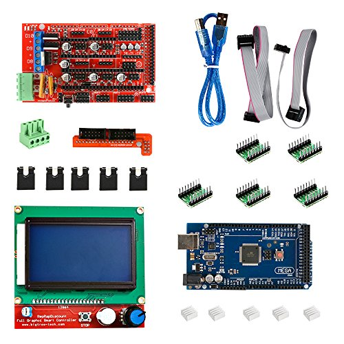 xcsource kit rampes imprimante 3d 1 4 mega2560 a4988 lcd carte contr leur 12864 reprap te394. Black Bedroom Furniture Sets. Home Design Ideas