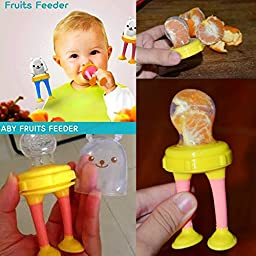 Tobi 3 Stages Silicone and Mesh Baby Fresh Fruit and Food Feeder (Mint/Blue)