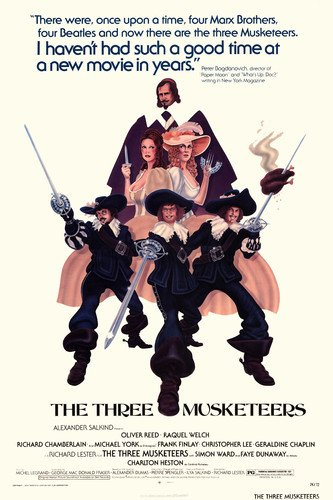 oliver-reed-raquel-welch-and-richard-chamberlain-in-the-three-musketeers-24x36-poster