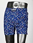 PROBASE CASUAL PRINT BLUE 100% COTTON COMFORT BOXER SHORTS