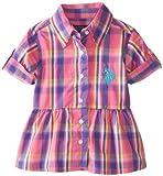 Lote de EE.UU, poliléptico. Para bebés-las niñas de puño de sillita para bebés para camisa a cuadros de cocina con rollo de, Color Rosa Y para ventilador de pared, 12 meses de la: color de rosa para ventilador de pared Tamaño: 12 meses de sillita par