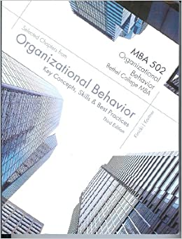 key concepts of organizational behavior In response to the need for an alternative to broad-coverage organizational  behavior books, bob vecchio has written organizational behavior: core  concepts.