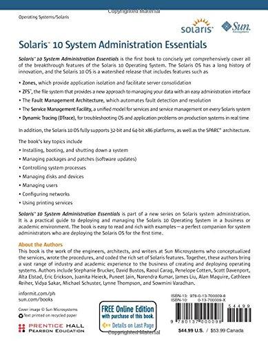 unix essentials featuring the solaris 10 Unix essentials featuring the solaris 9 operating system 10 sa-200-s10system administration for the solaris 10 operating system part 1 10.
