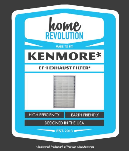 Kenmore Ef-1 86889 Home Revolution Brand Exhaust Vacuum Cleaner Replacement Filter- Made To Fit Sears Kenmore Vacuum Part# 86889, 20-86889, 40324, Ef1, Ef-1, Kc38Kcen1000 Ultra Care Kenmore Ef-1 02080007000, 610542, 116.23613300 & Panasonic Part# Mcv194H, front-4136