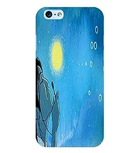 PrintVisa Stylish Cool Girl Joy happy 3D Hard Polycarbonate Designer Back Case Cover for Apple iPhone 6 Plus