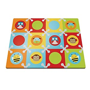 Skip Hop Playspot Interlocking Foam Mat - Green/Brown - 242008