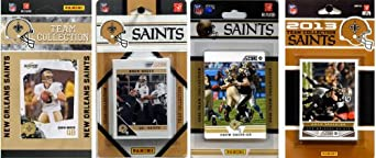 NFL New Orleans Saints 4 Different Licensed Trading Card Team Sets by C&I Collectables