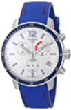 Tissot Men's T0954491703700 Quickster Stainless Steel Soccer Watch with Blue Silicone Band
