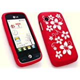 Emartbuy Lg Gs290 Cookie Fresh Silicon Case / Cover / Skin Floral Rot