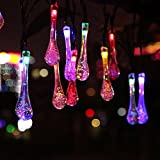 Homeself Solar Outdoor String Lights - 20ft 30 LED Waterproof Lights Christmas Lights Solar Powered String lights for Garden - Patio - Yard - Home - Christmas Tree - Parties (Multi color)
