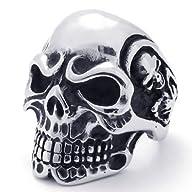 KONOV Jewelry Vintage Gothic Skull Bi…