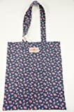 Cath Kidston NEW Cotton Book Bag Little Rose Floral in Navy