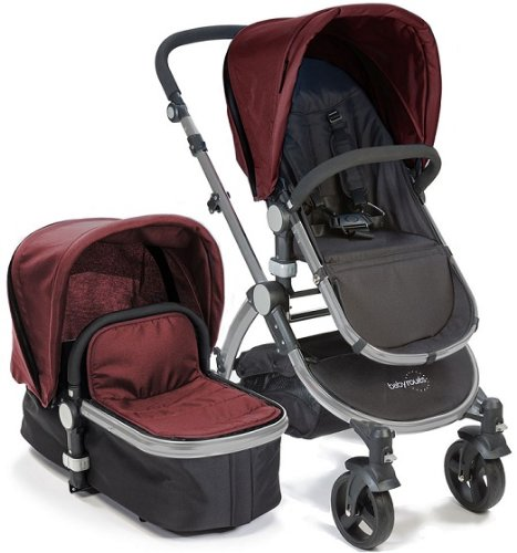 Baby-Roues-LeTour-II-RASPBERRY-Lightweight-Compact-Stroller-w-Bassinet