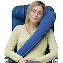 Travelrest - Ultimate Inflatable Travel Pillow - Lean Into It & Sleep - #1 Best Seller - Ergonomic Neck Pillow - Airplanes, Cars, Buses, Trains, Office Napping, Camping, Wheelchairs & Home (Ranked #1 by WSJ)