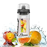 Best Fruit Infuser Water Bottle - 100% BPA Free Sports Water Bottle - Large 32 Oz (Black) Infusing Water Bottle...
