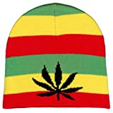WEED LEAF MARIJUANA KNIT BEANIE WINTER HAT SKI CAP by DOPE