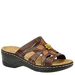 Clarks Women\'s Lexi Myrtle Sandal,Brown,9 XW US