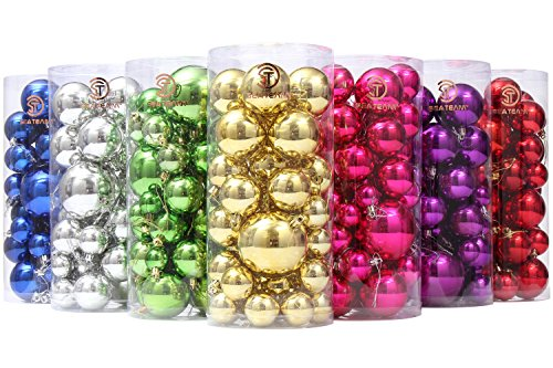 sea-team-classic-various-sizes-barrel-plating-glaze-finish-solid-color-christmas-balls-ornaments-set