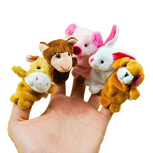 "12 Chinese zodiac plush mini animals finger puppets. 2.5"" each. FREE & FAST US SHIPPING."